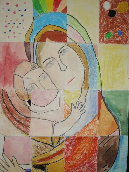 Mother and child picture by Year 6